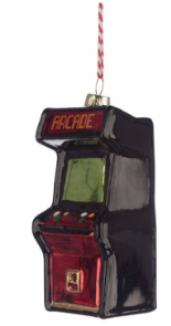 Arcade Game Glass Christmas Bauble Decoration